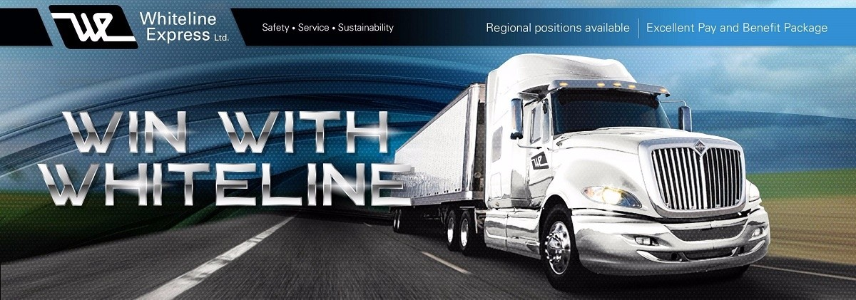 Whiteline Express is looking for truck drivers.