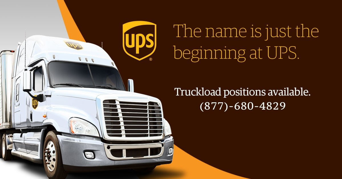 UPS Freight load is looking for truck drivers.