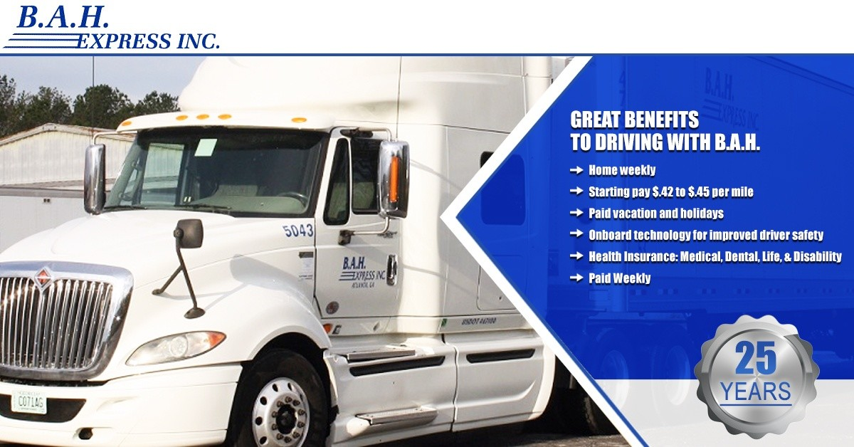 B.A.H. Express is looking for truck drivers.