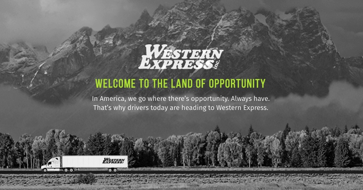 Western Express is looking for truck drivers.