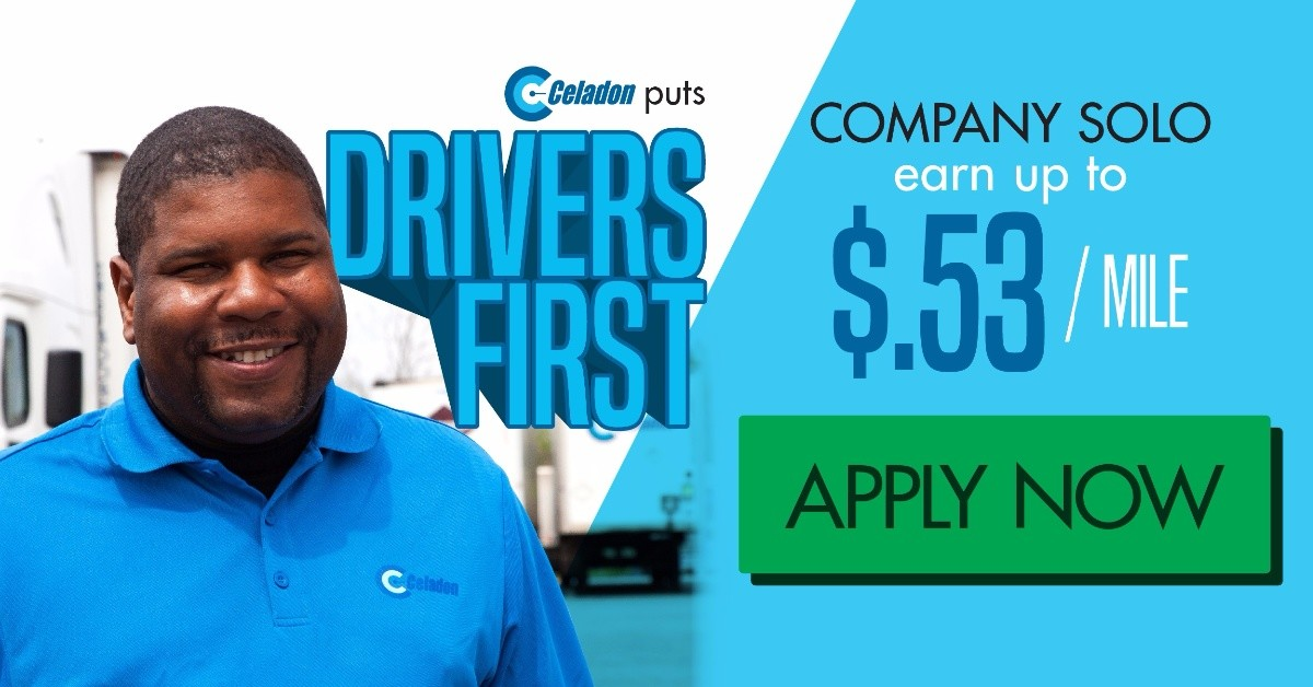 Celadon Company is looking for truck drivers.