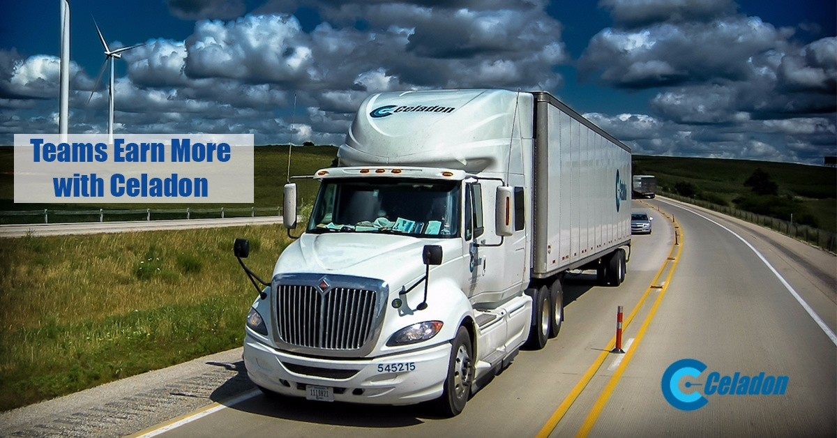 Celadon Team  is looking for truck drivers.