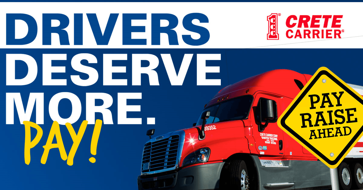 Crete Carrier Corporation is looking for truck drivers.
