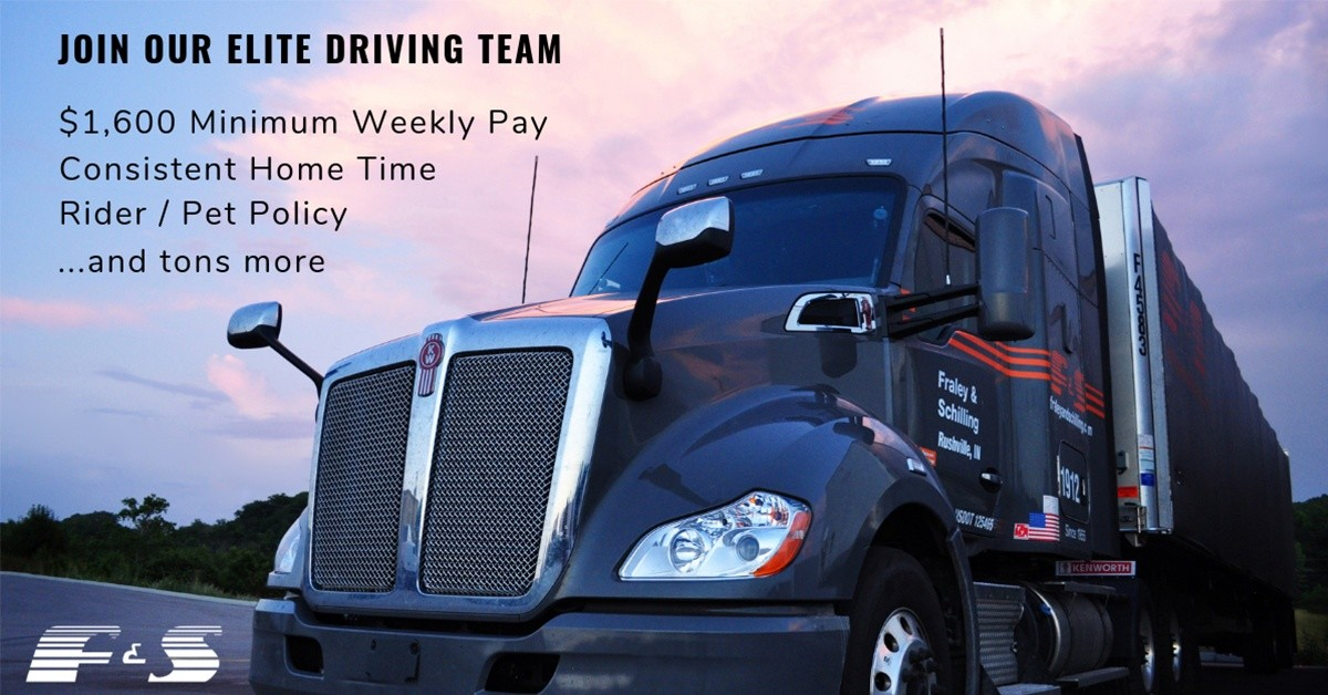 Fraley & Schilling Inc is looking for truck drivers.