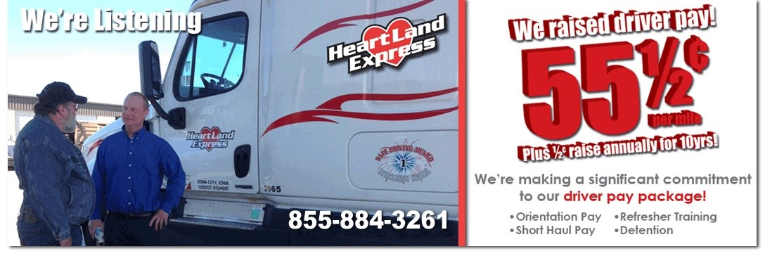 Heartland Express is looking for truck drivers.