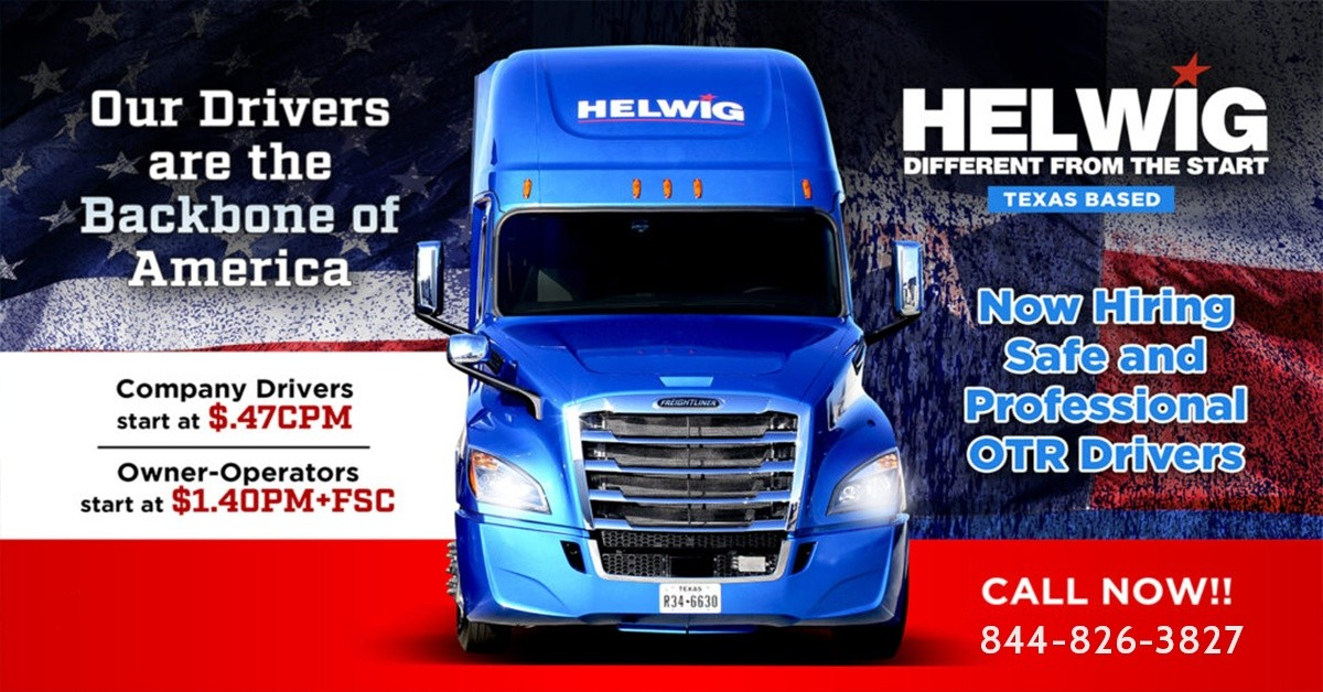 J.S. Helwig & Son is looking for truck drivers.