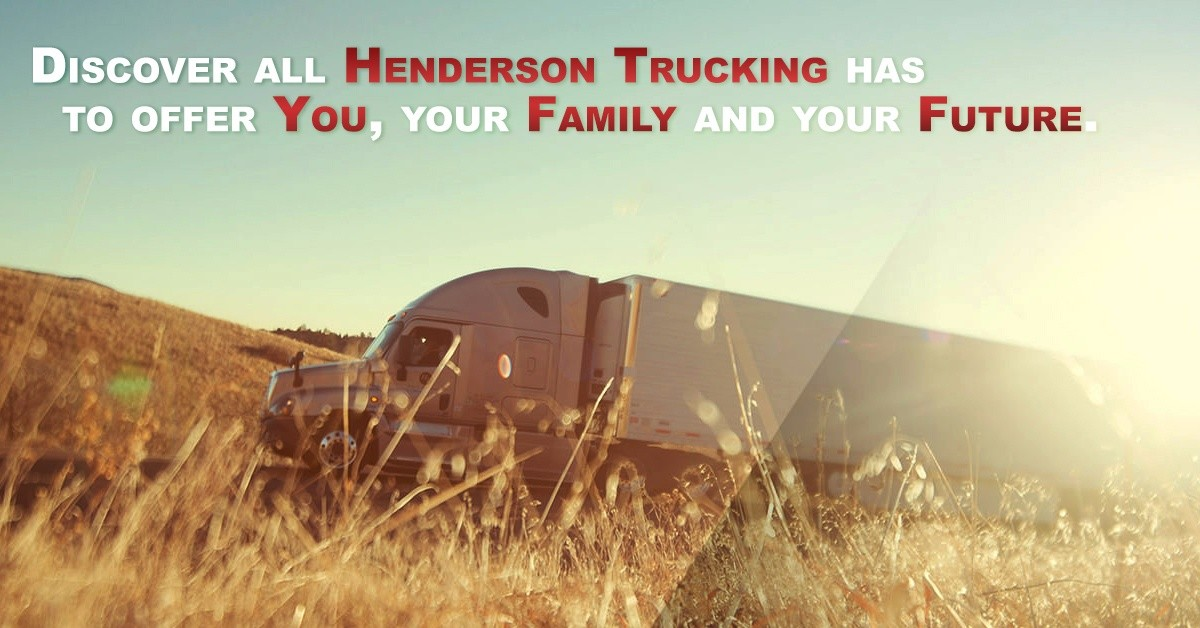 Henderson is looking for truck drivers.