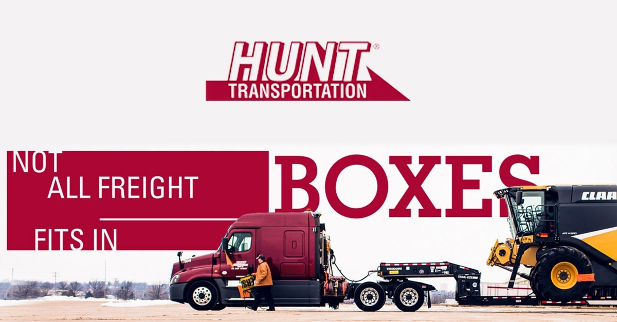 Hunt Transportation is looking for truck drivers.