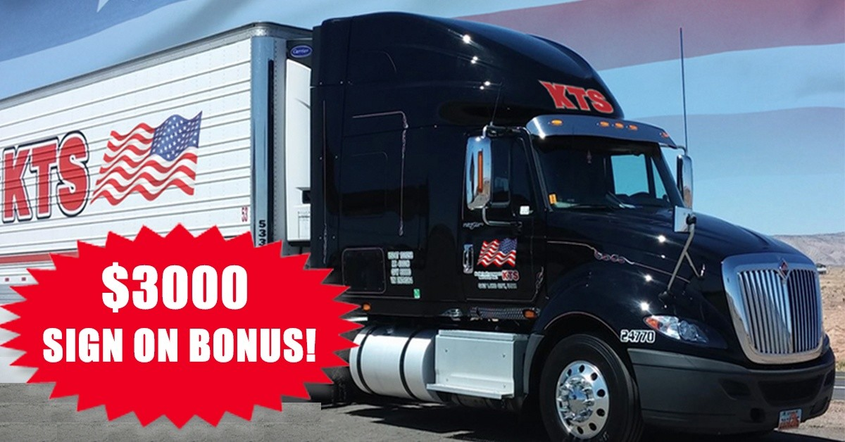 KTS is looking for truck drivers.
