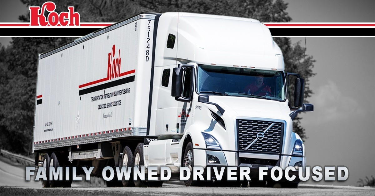 Koch  is looking for truck drivers.