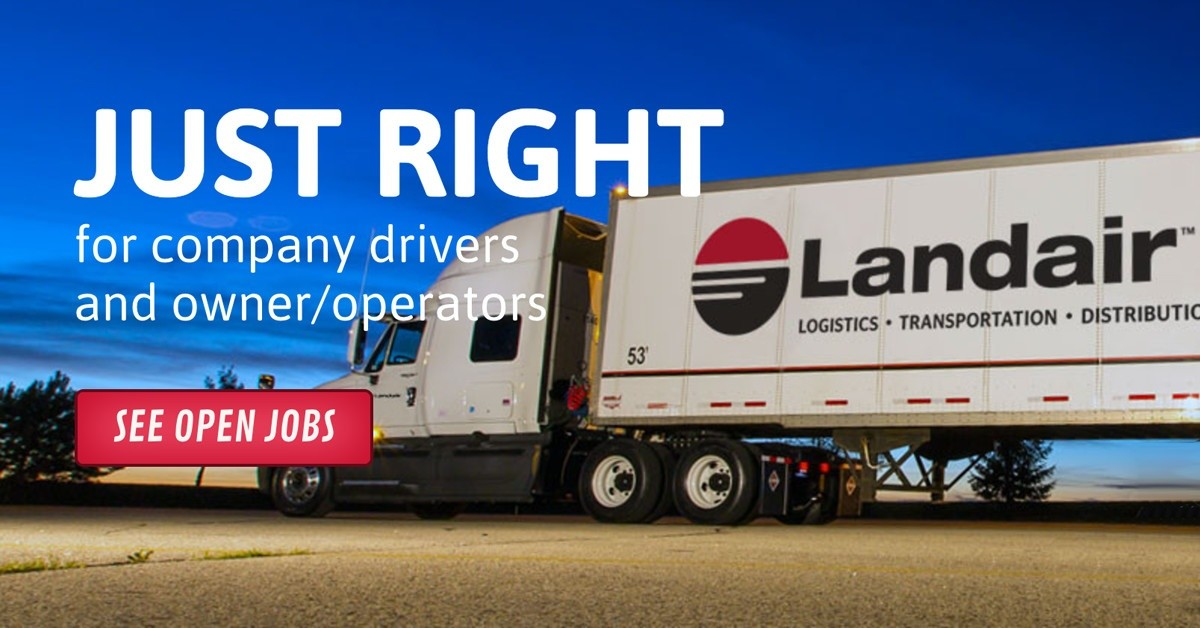 Landair is looking for truck drivers.