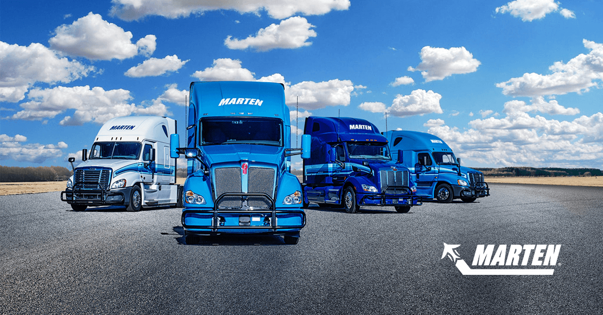 Marten Transport is looking for truck drivers.