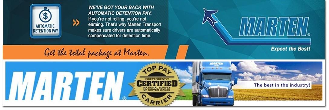 Marten Transport is looking for truck drivers.