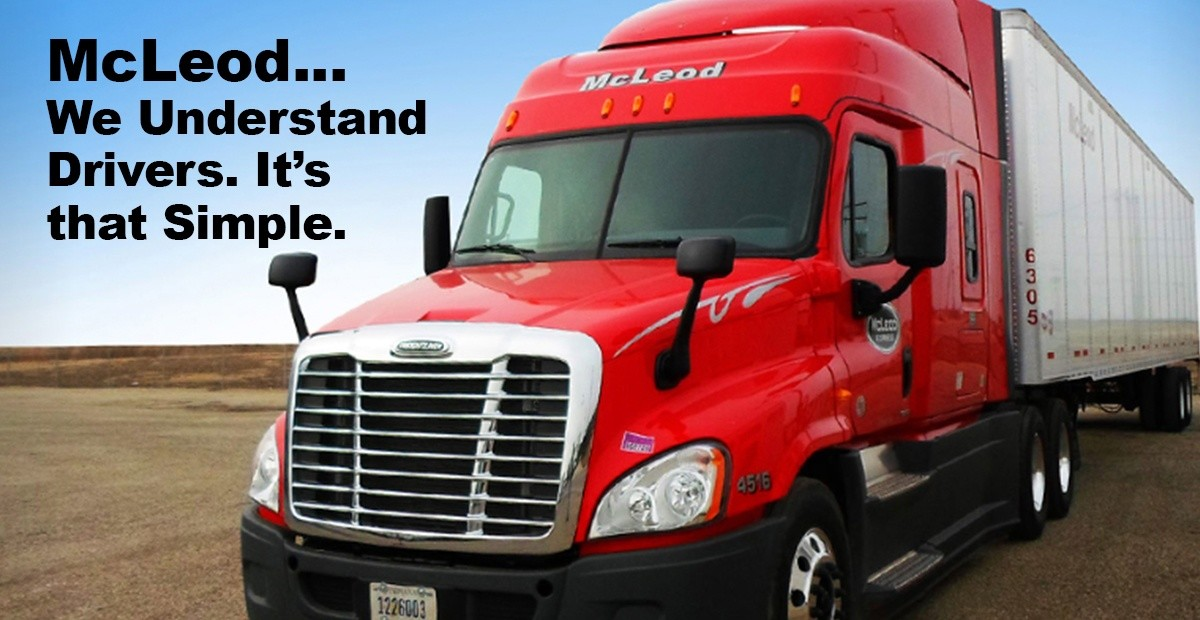 McLeod Express is looking for truck drivers.