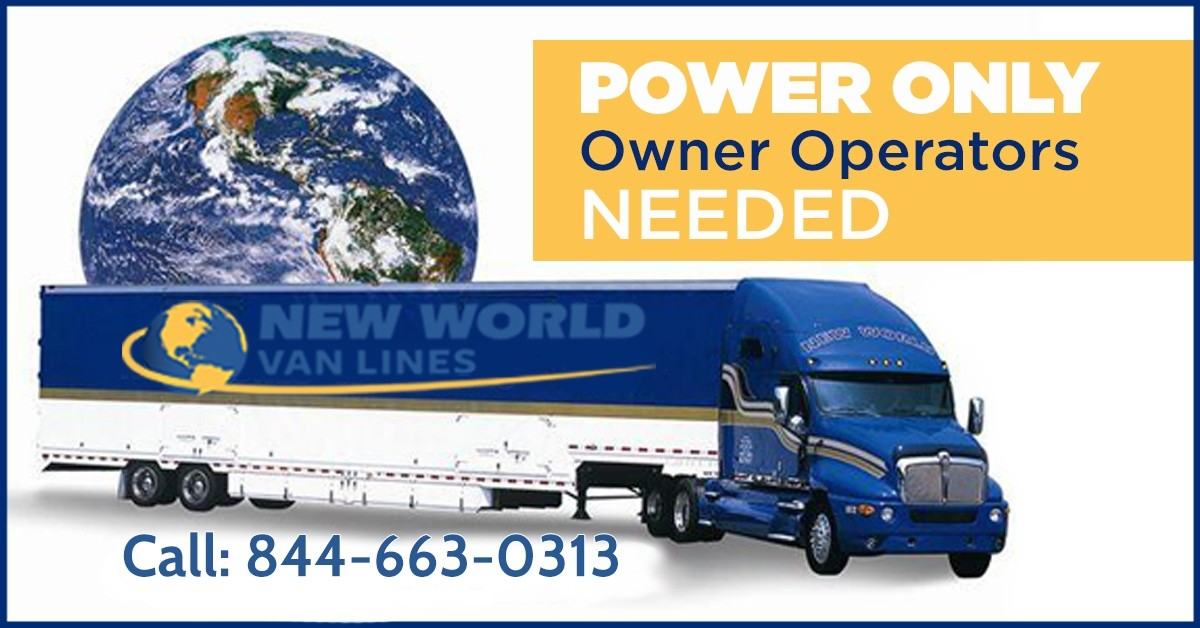 NEW WORLD VAN LINES is looking for truck drivers.