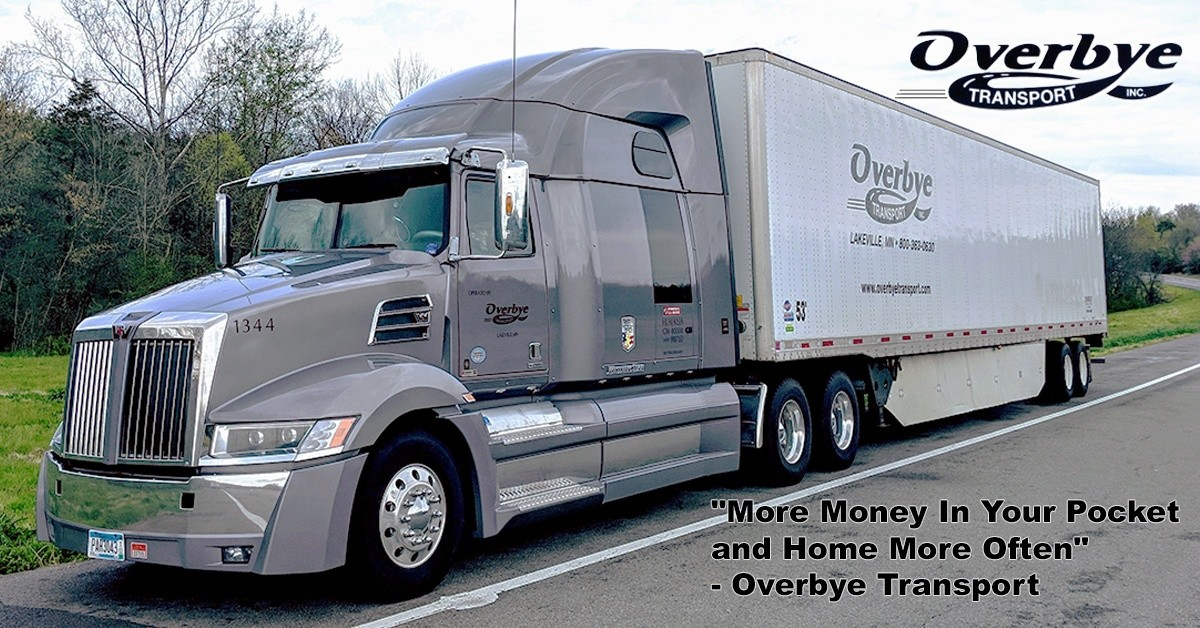 Overbye Transport is looking for truck drivers.