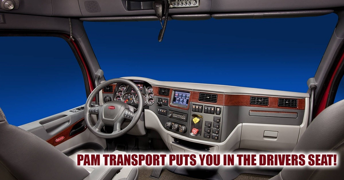 PAM Transport is looking for truck drivers.