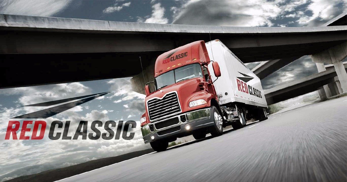 red classic transit is looking for truck drivers
