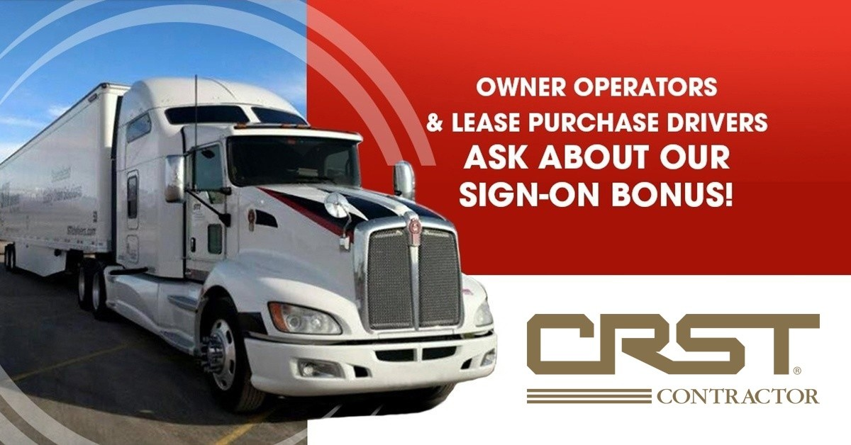 CRST Specialized Transportation, Inc. is looking for truck drivers.