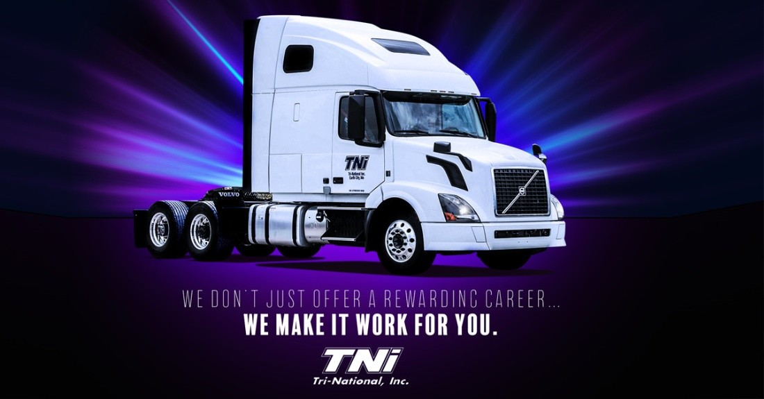 Tri-National, Inc. is looking for truck drivers.