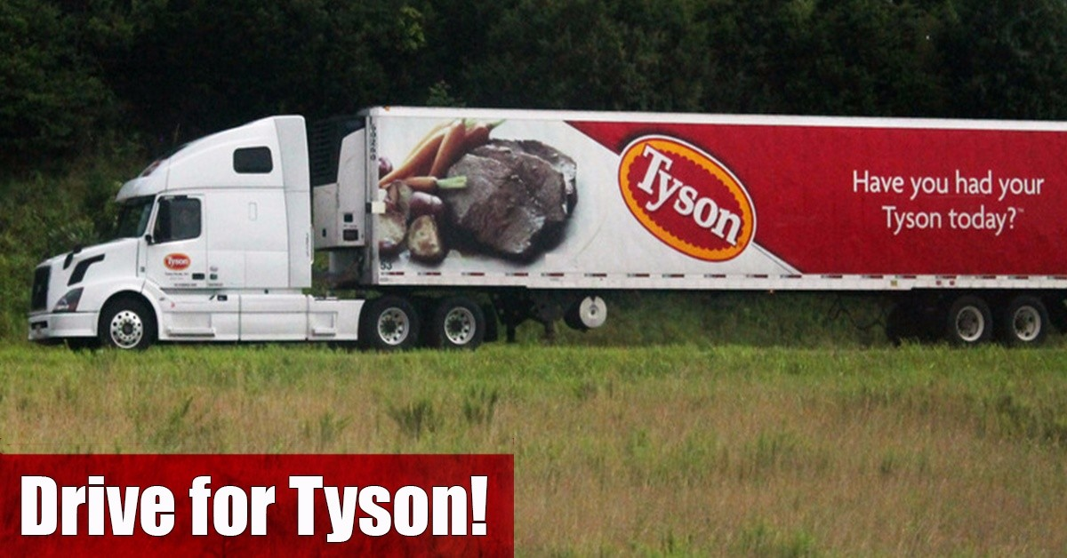 Tyson Foods is looking for truck drivers.