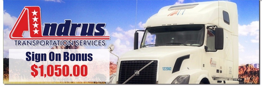 Andrus Transportation is looking for truck drivers.