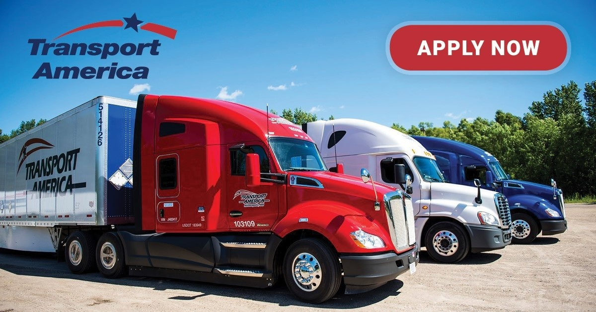 Transport America is looking for truck drivers.